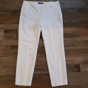 Express white columnist ankle pants size 6